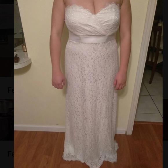 White House Black Market Dresses Lace Strapless Wedding Poshmark